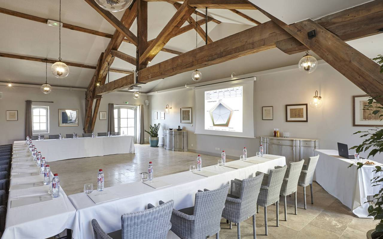 Luxury meeting room, team building near Montpellier, Château St Pierre de Serjac.