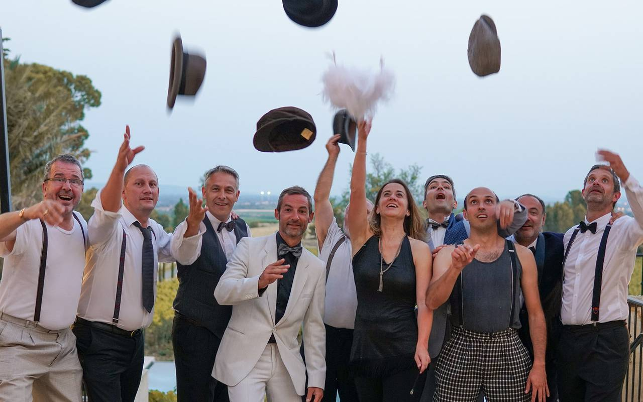 People partying, business meeting in France, Domaine & Demeure events.