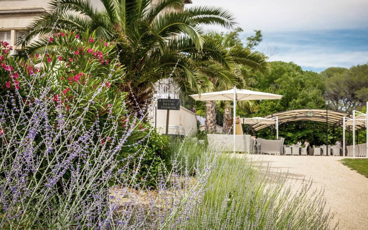 Entrée du domaine, hôtel séminaire Montpellier, Domaine & Demeure Events.