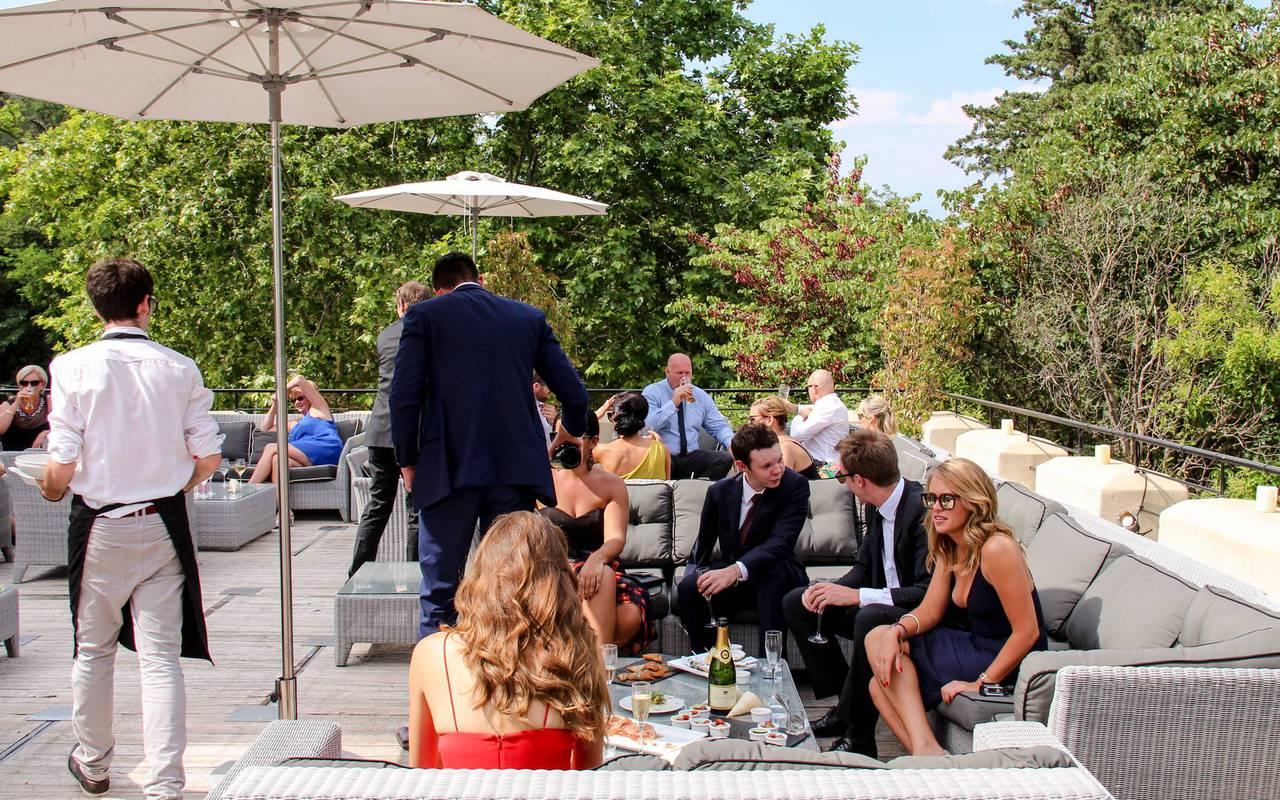 Réception durant séminaire, hôtel séminaire Montpellier, Domaine & Demeure Events.