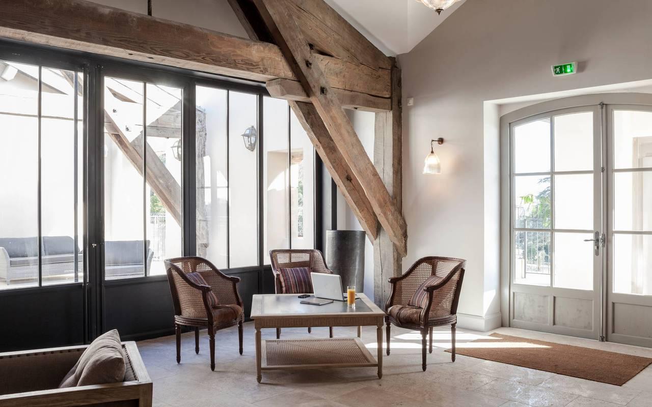 Élégant salon, hôtel séminaire Toulouse, Domaine & Demeure Events.