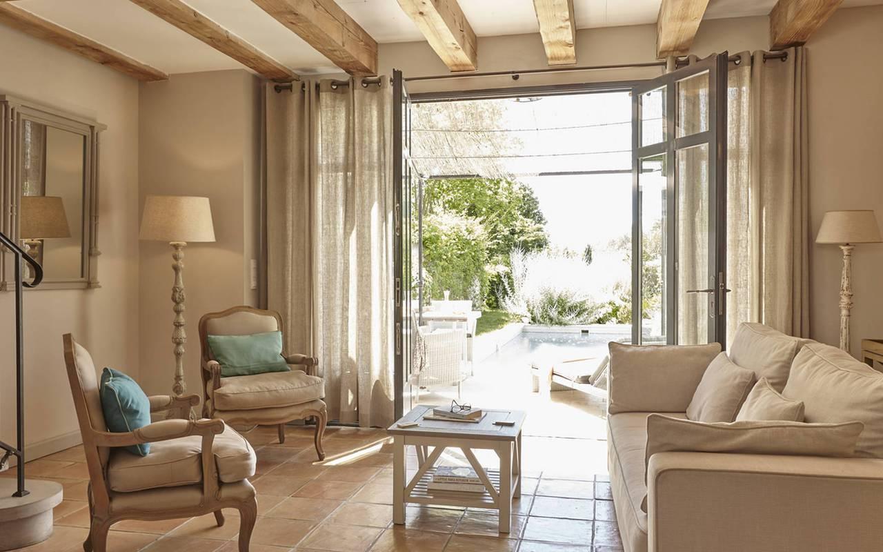 Salon élégant, hôtel séminaire Montpellier, Domaine & Demeure Events.