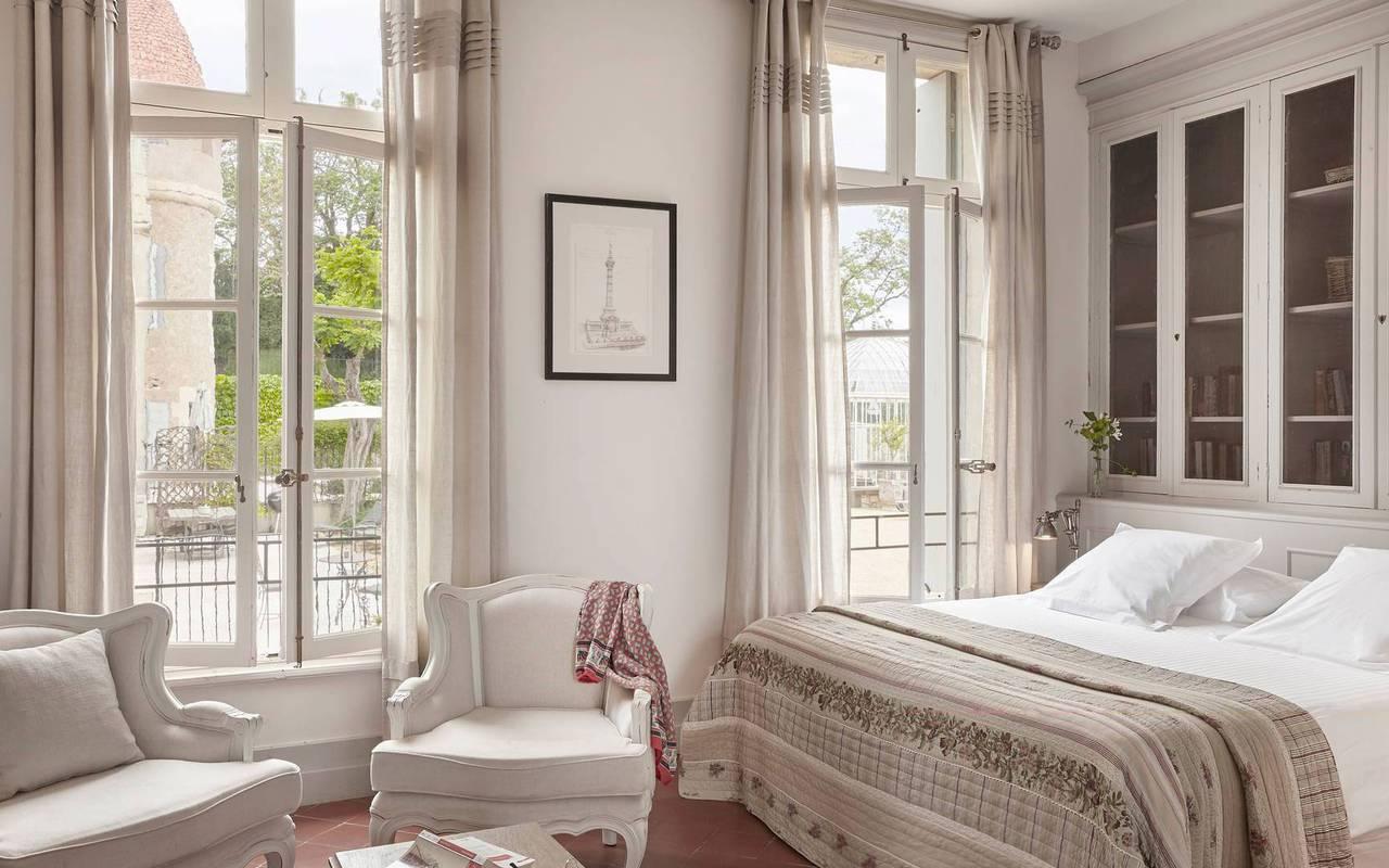 Grande chambre, hôtel séminaire Montpellier, Domaine & Demeure Events.